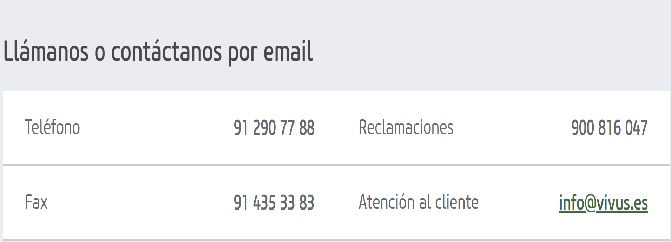 Area Cliente Vivus Perfil Cuenta
